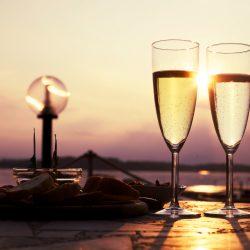 ロマンティックな夕焼け